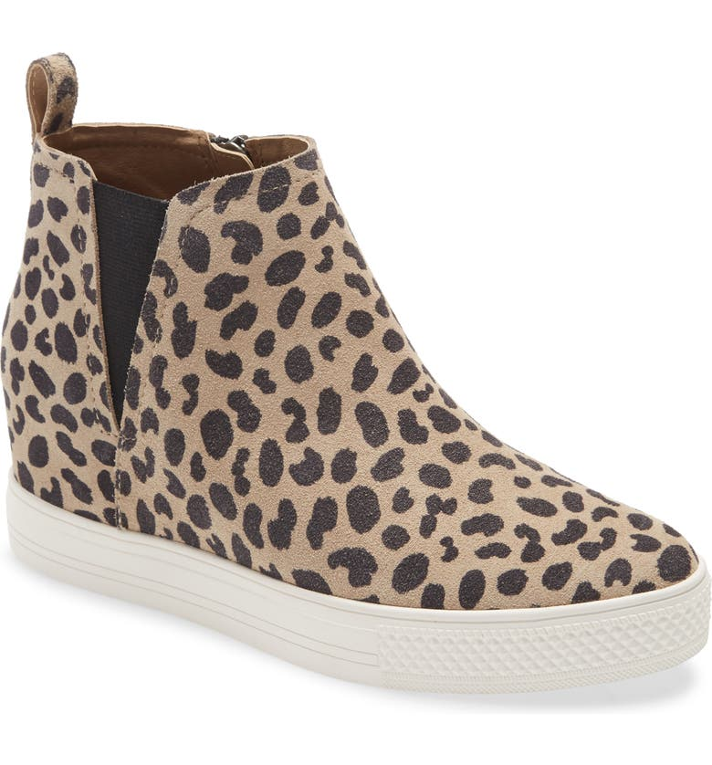 CASLON<SUP>®</SUP> Aidy Water Resistant Wedge Sneaker, Main, color, TAN CAMEL LEOPARD
