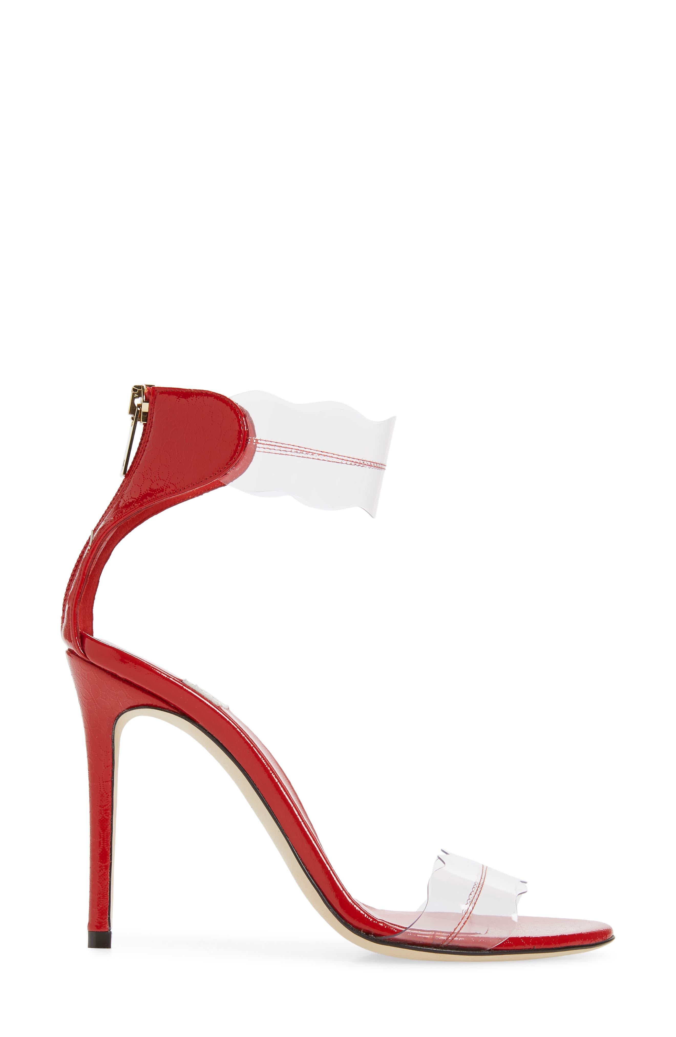 ,                             Pauwau Ankle Strap Sandal,                             Alternate thumbnail 3, color,                             RED FLORAL PRINT