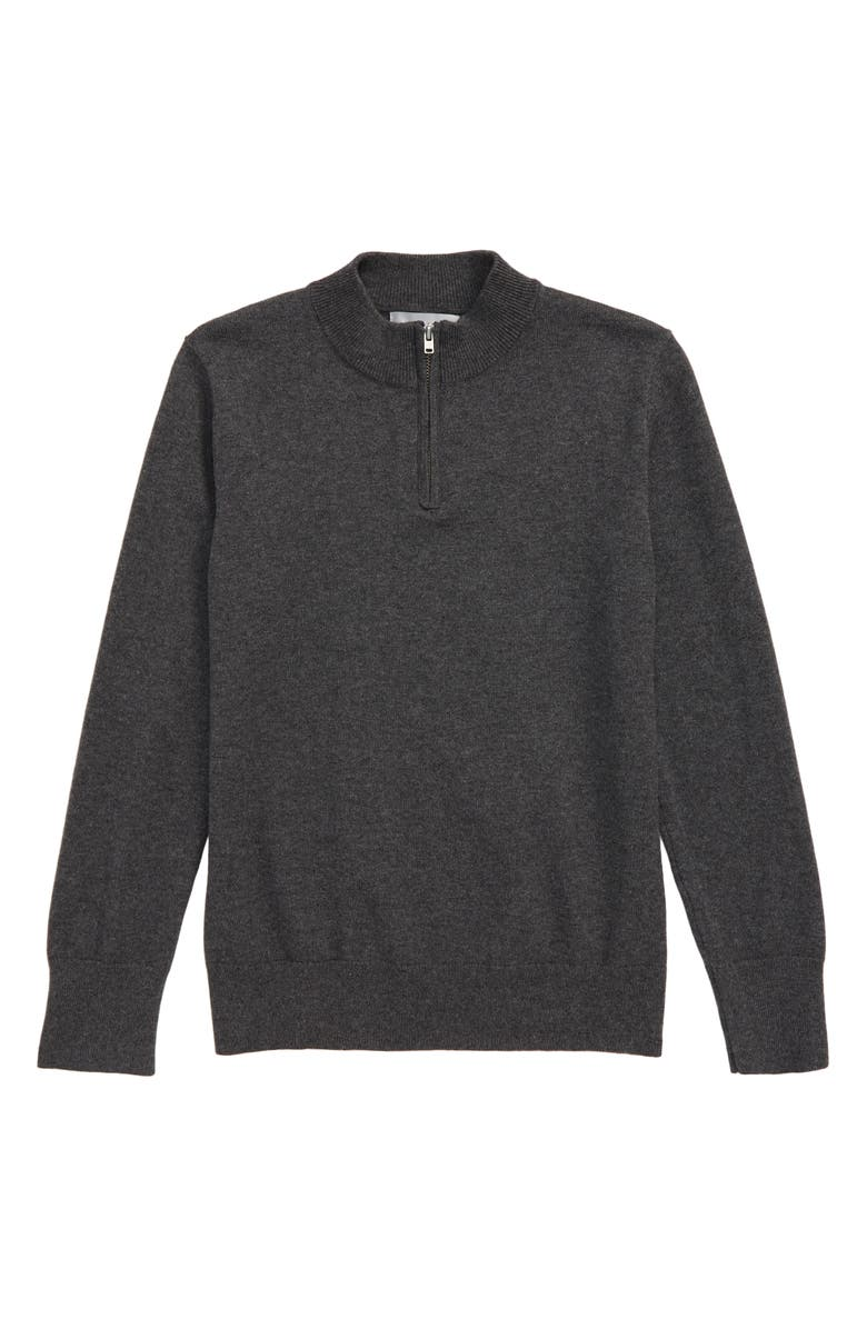 NORDSTROM Cotton Blend Quarter Zip Pullover, Main, color, 030