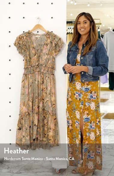 Cicely Silk Blend High/Low Dress, sales video thumbnail