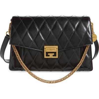 Givenchy Medium Gv3 Quilted Leather Crossbody Bag - Black