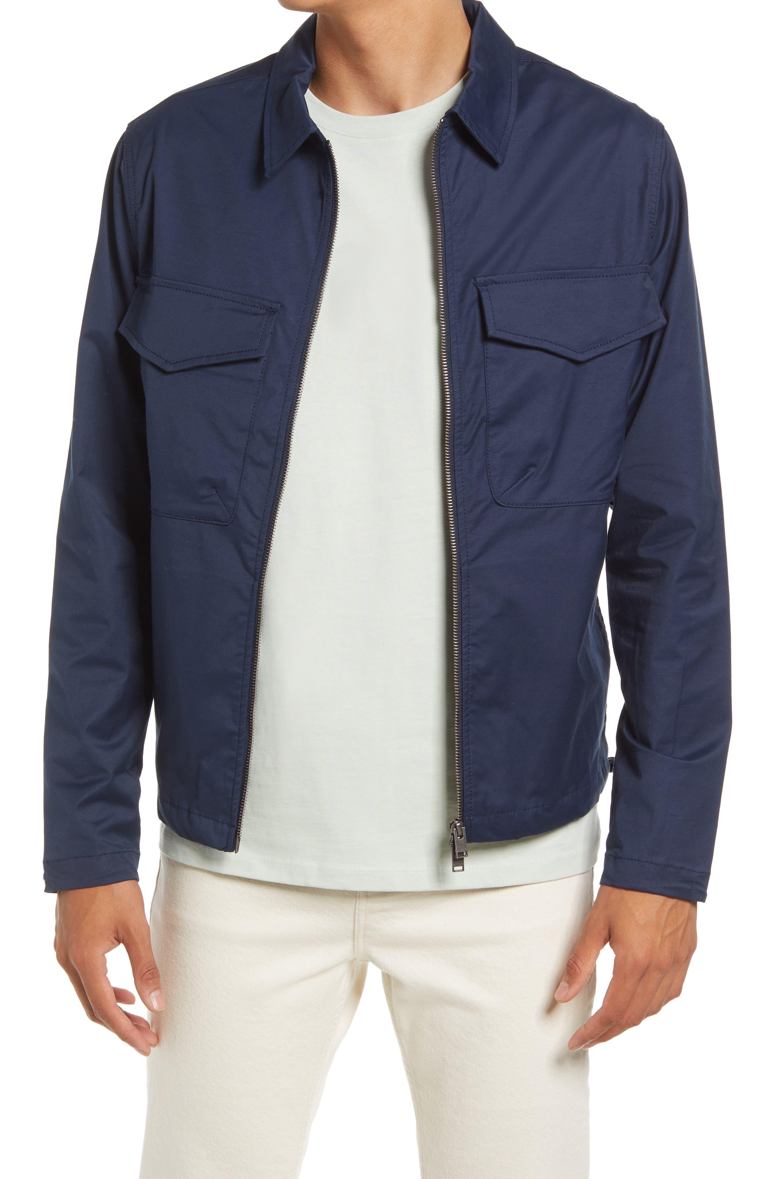 50s Men's Jackets | Greaser Jackets, Leather, Bomber, Gabardine Mens Selected Homme Slhvilbert Shirt Jacket Size Small - Blue $165.00 AT vintagedancer.com