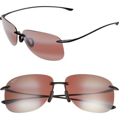 Maui Jim Hikina 62Mm Polarizedplus2 Rimless Sunglasses - Maui Rose/ Gloss Black