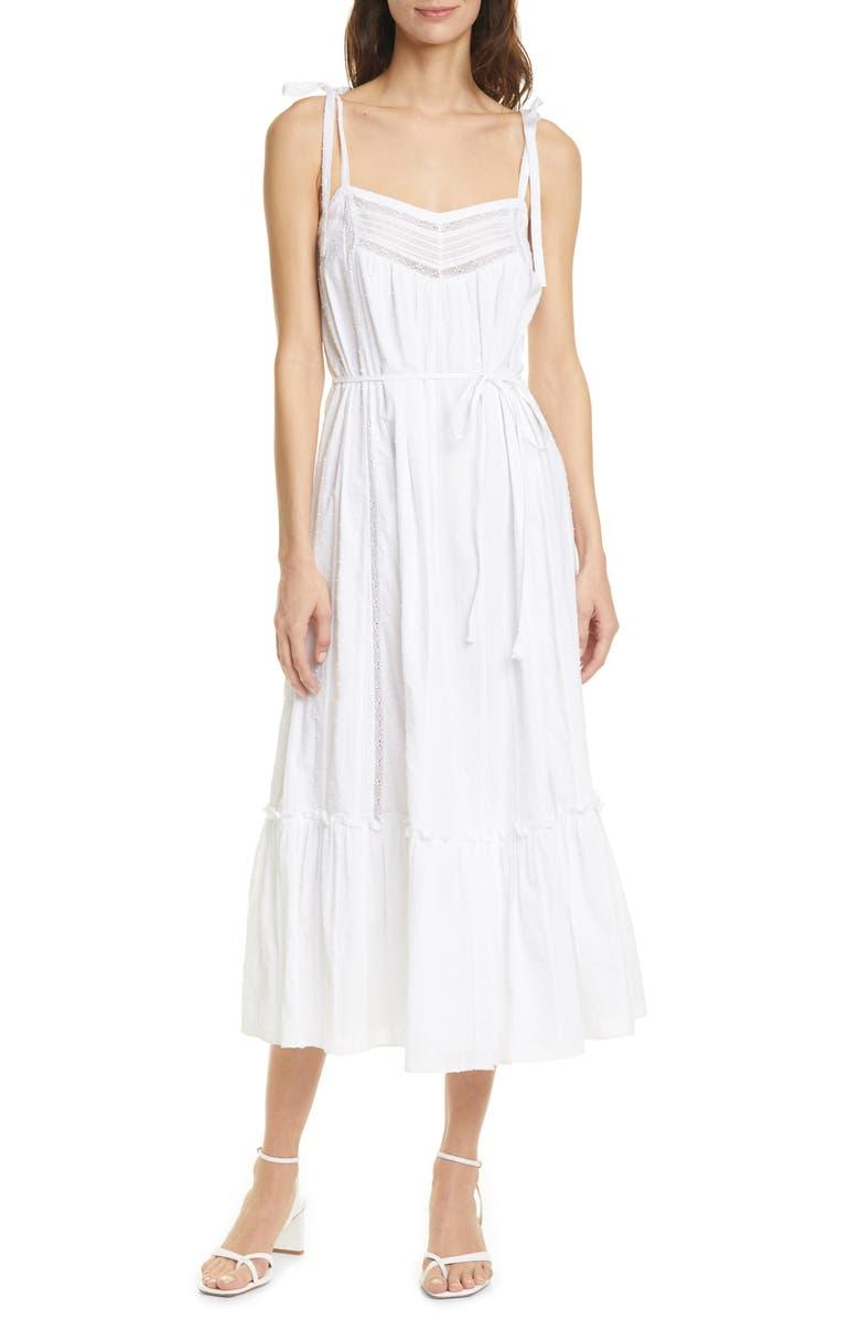 LA VIE REBECCA TAYLOR Kelsey Clip Dot Cotton Sundress, Main, color, 106