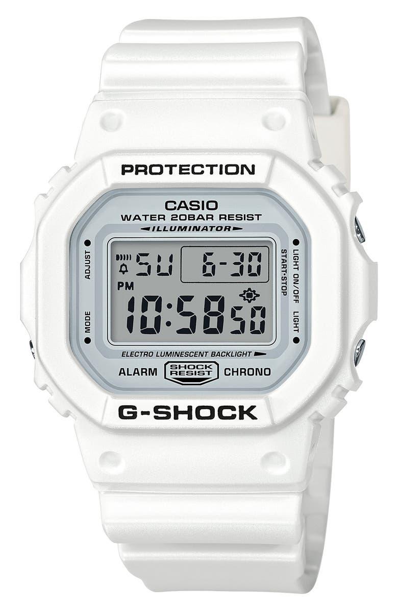 G-SHOCK BABY-G G-Shock Digital Resin Watch, 49mm, Main, color, 100