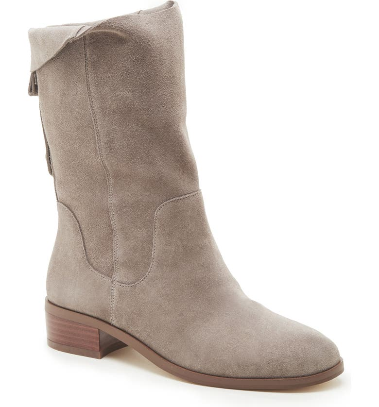 SOLE SOCIETY Calanth Bootie, Main, color, MUSHROOM/ GREY SUEDE