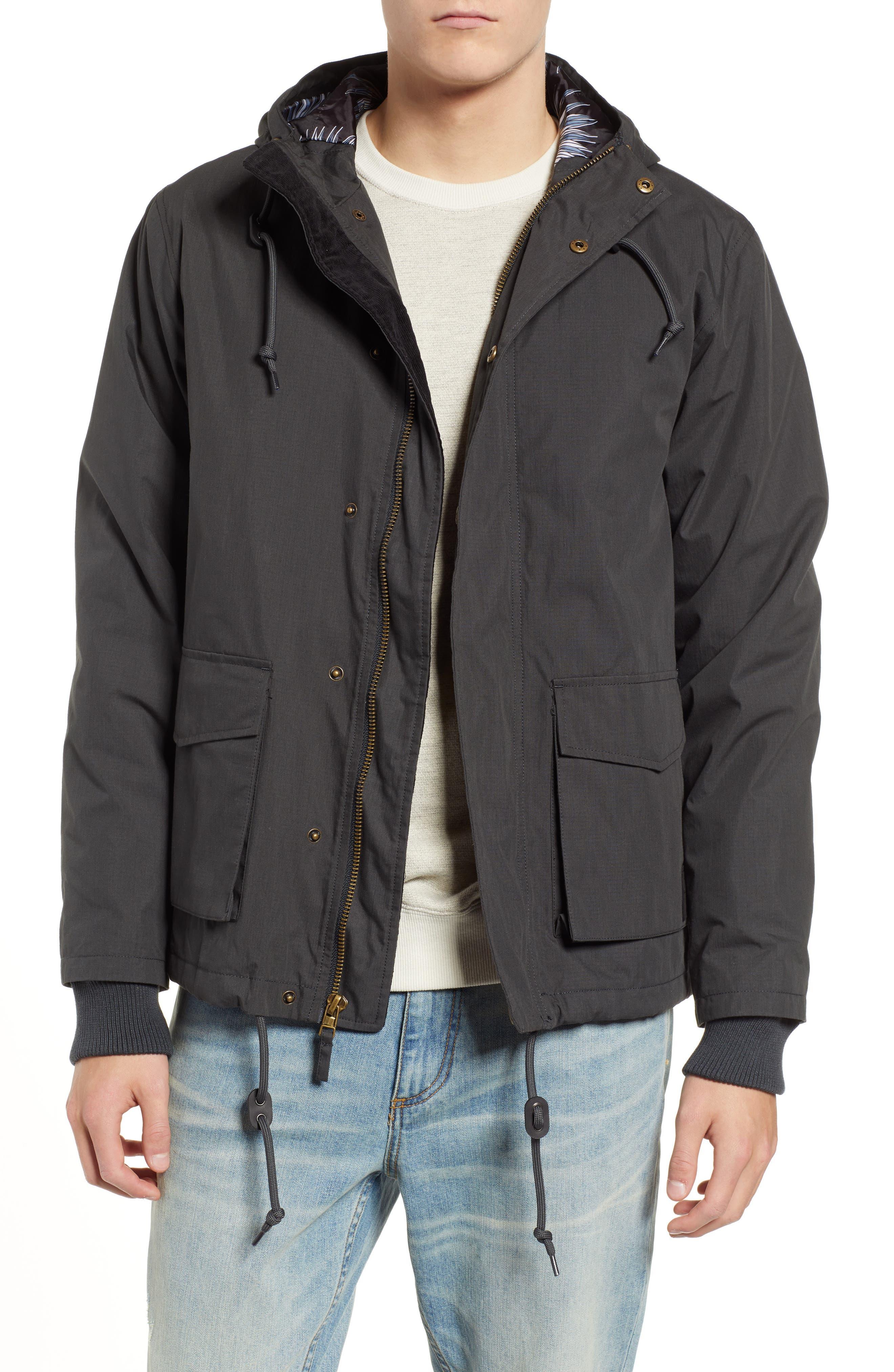 Ripstop Parka Jacket, Main, color, PIRATE BLACK