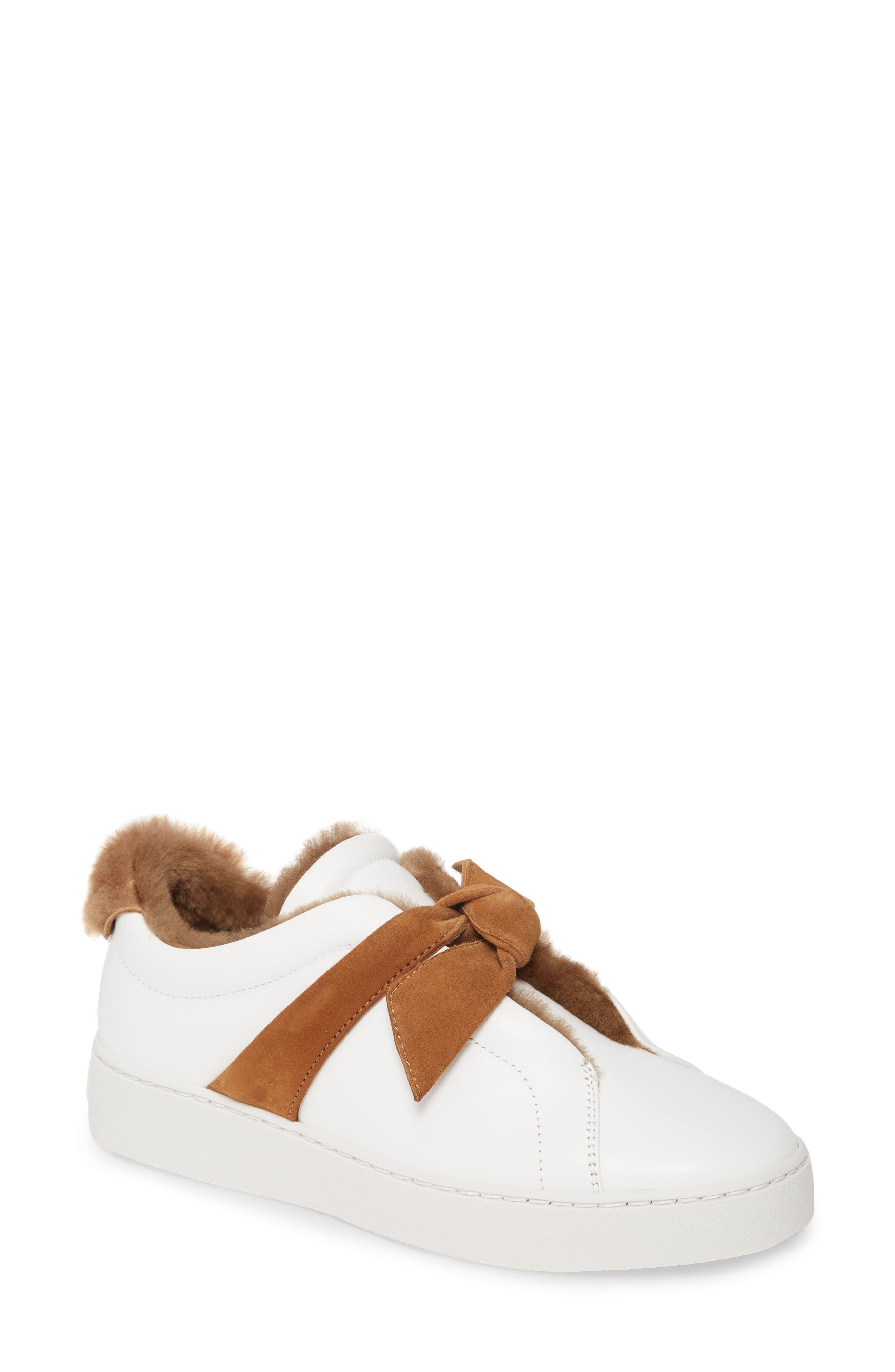 Alexandre Birman Sneakers Clarita Bow Genuine Shearling Lined Sneaker