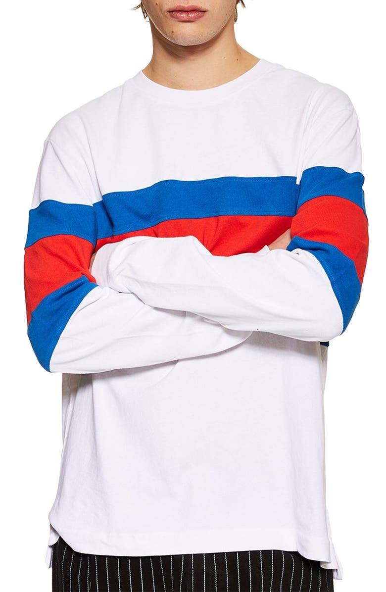 Topman Stripe Skater T Shirt