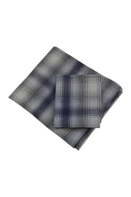Image of Belle Epoque Flannel Sheet Set Blue Plaid - King