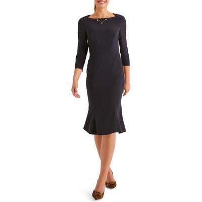Boden Violette Sheath Dress, Blue