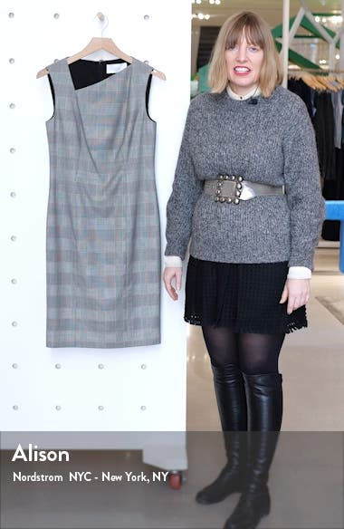 Delray Modern Check Sheath Dress, sales video thumbnail
