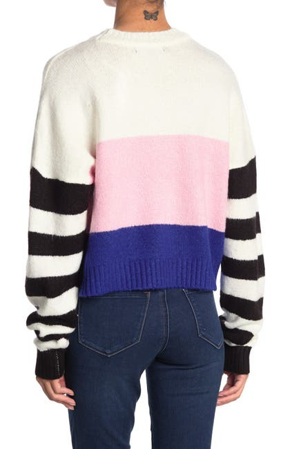 Image of Love by Design Lydia Stripe Crew Neck Sweater