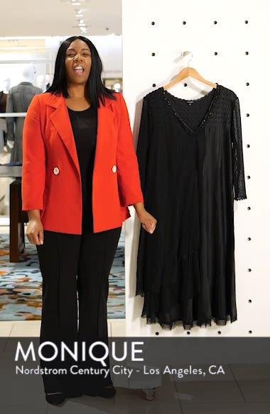 Beaded Neck Chiffon Dress, sales video thumbnail