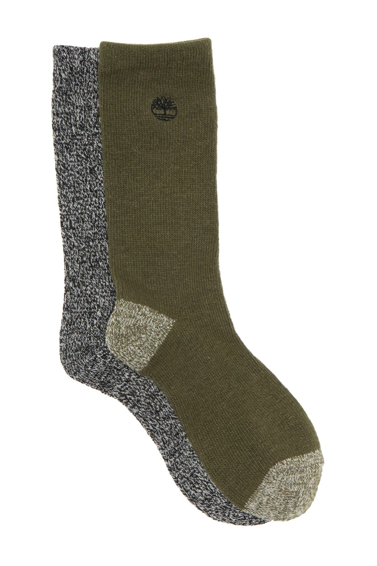 Image of Timberland Marled Boot Socks - Pack of 2