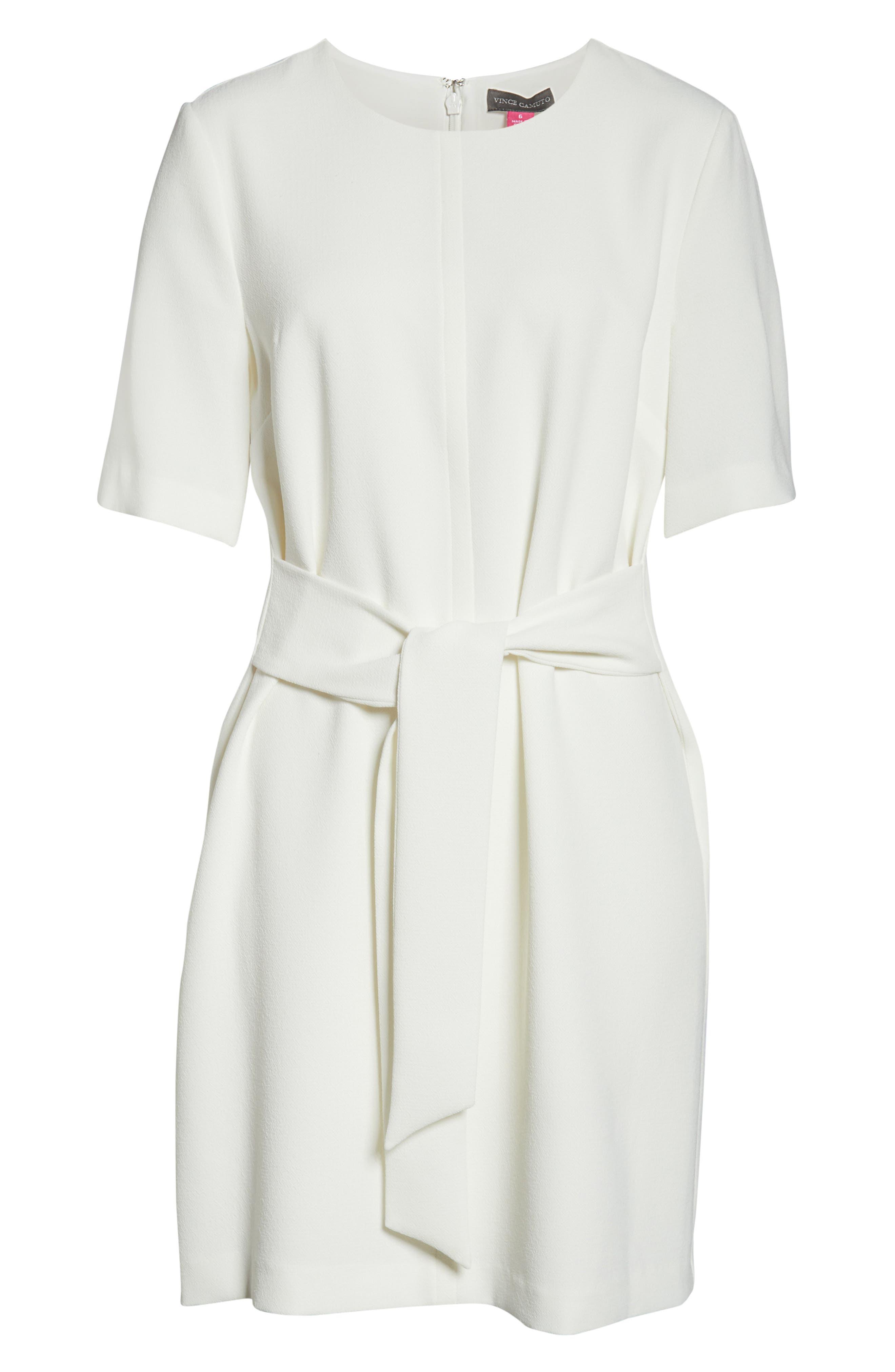 ,                             Belted Crepe Dress,                             Alternate thumbnail 7, color,                             904