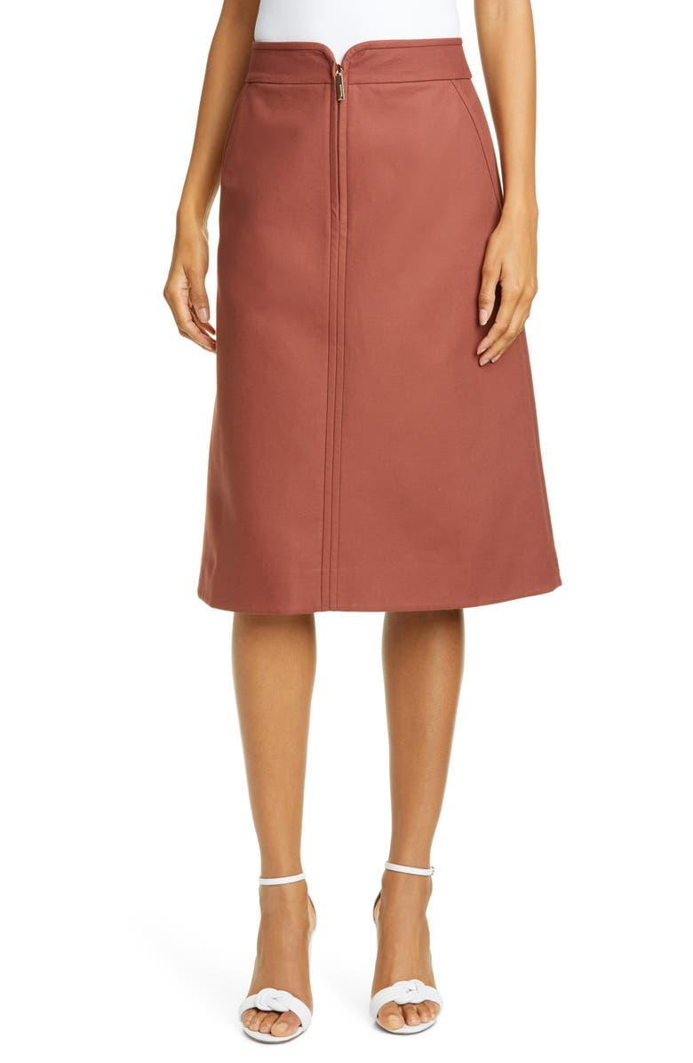 KATE SPADE NEW YORK collection twill skirt, Main, color, 214