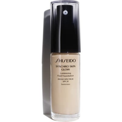 Shiseido Synchro Skin Glow Luminizing Fluid Foundation Broad Spectrum Spf 20 - N1