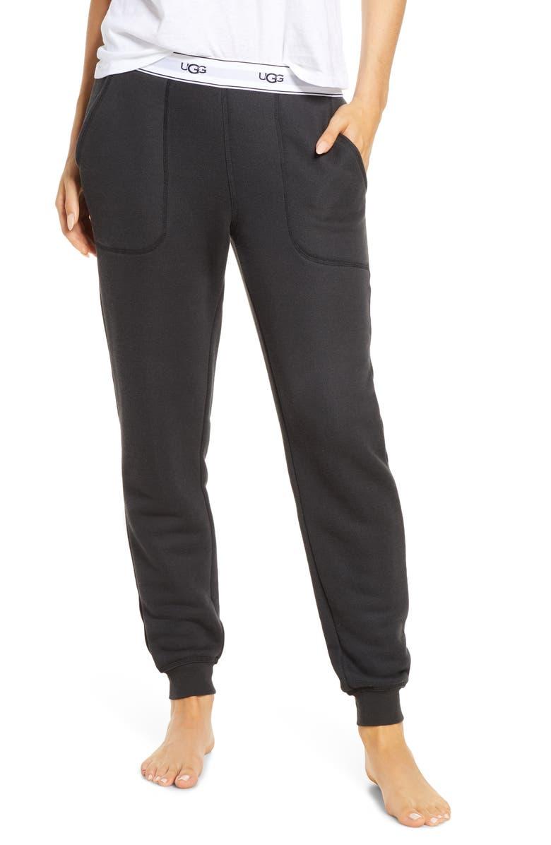 UGG<SUP>®</SUP> Cathy Jogger Pants, Main, color, BLACK