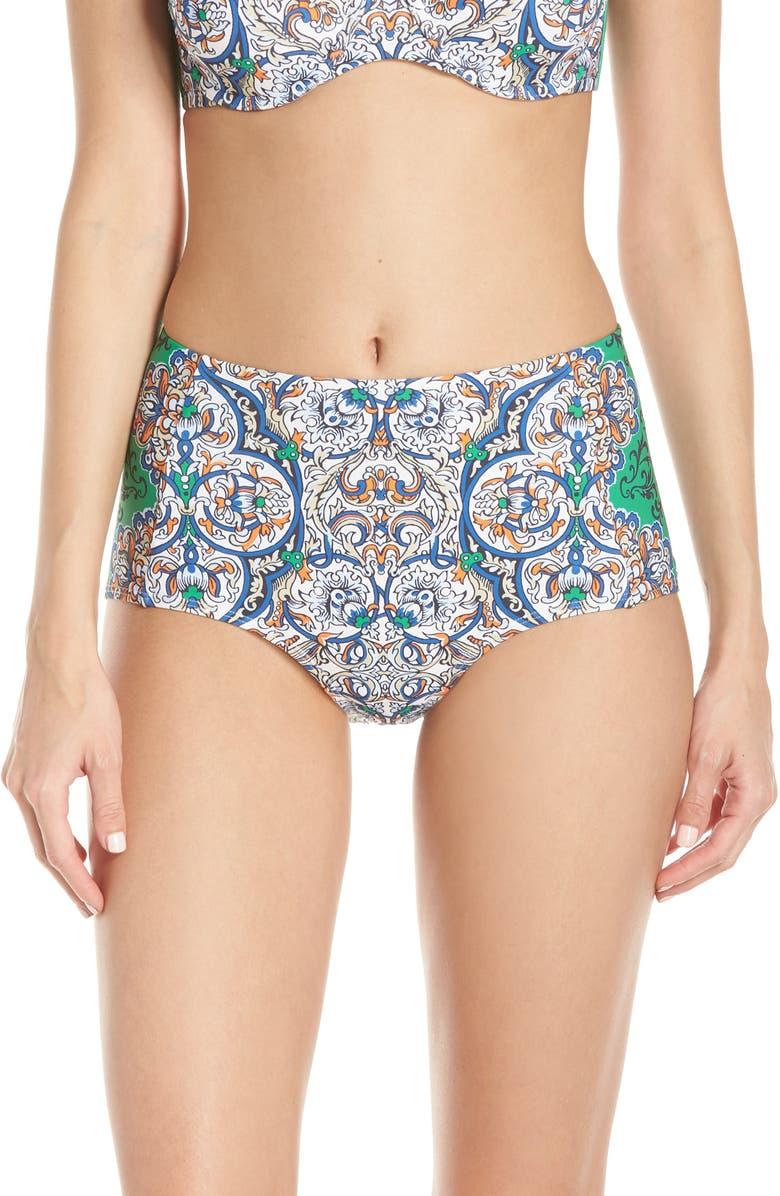 TORY BURCH High Waist Bikini Bottoms, Main, color, 423