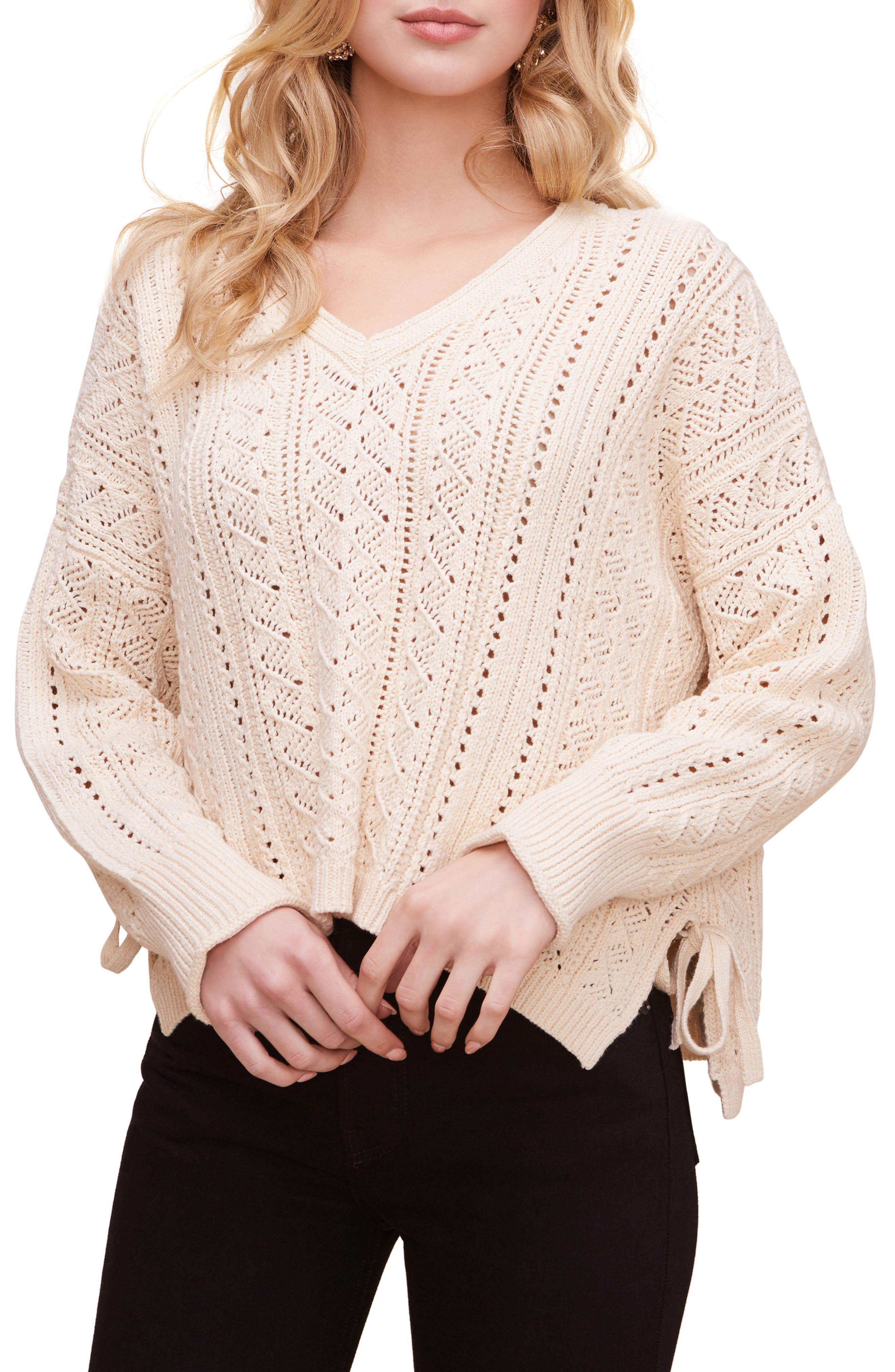 Image of ASTR the Label Open Weave Pullover