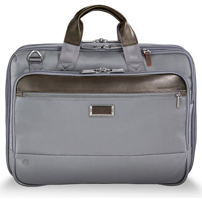 Briggs & Riley @work Expandable Briefcase - Grey