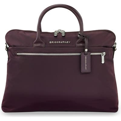 Briggs & Riley Slim Business Briefcase - Purple