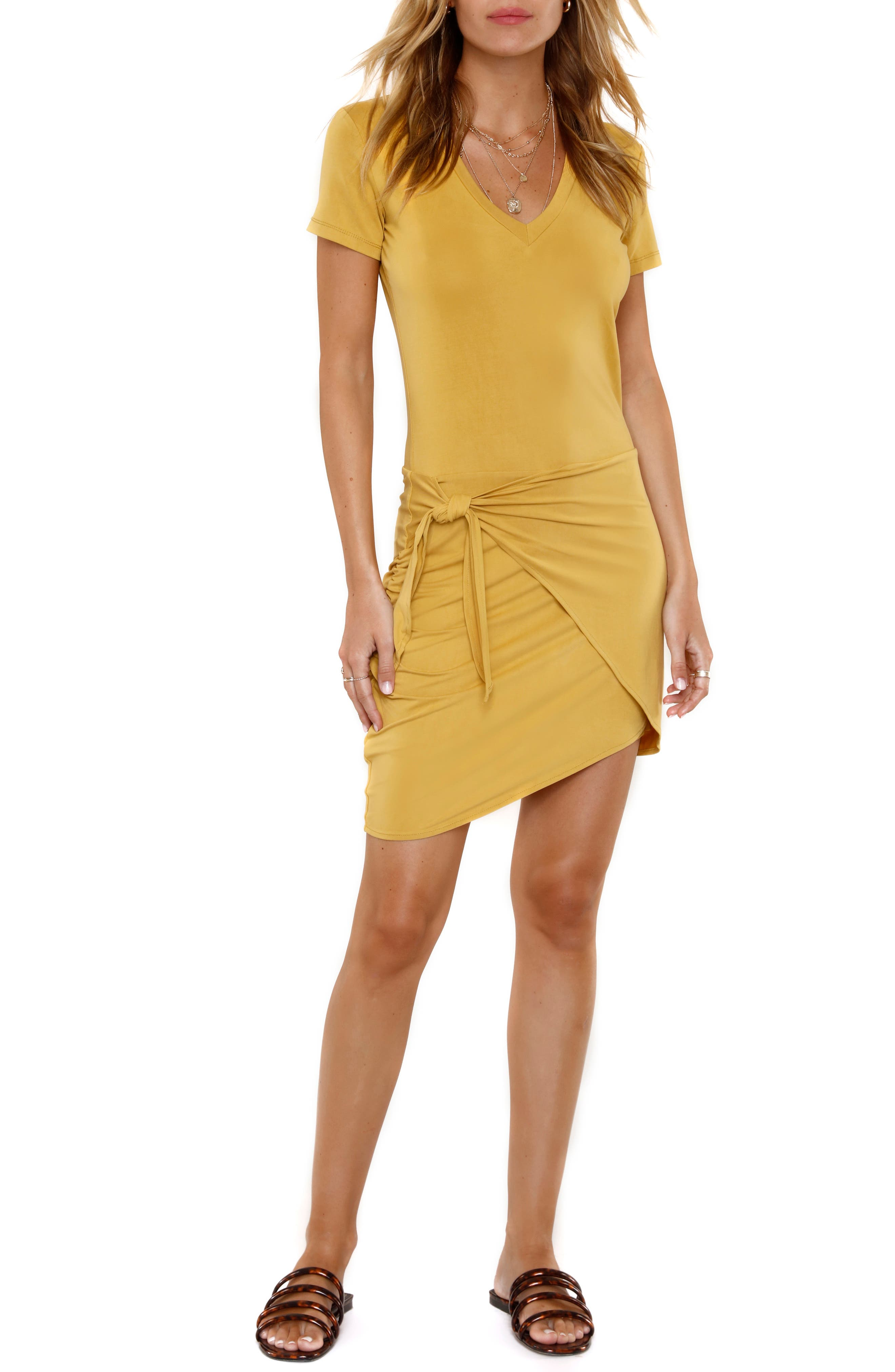 Image of Heartloom Jace Knotted Overlay T-Shirt Dress