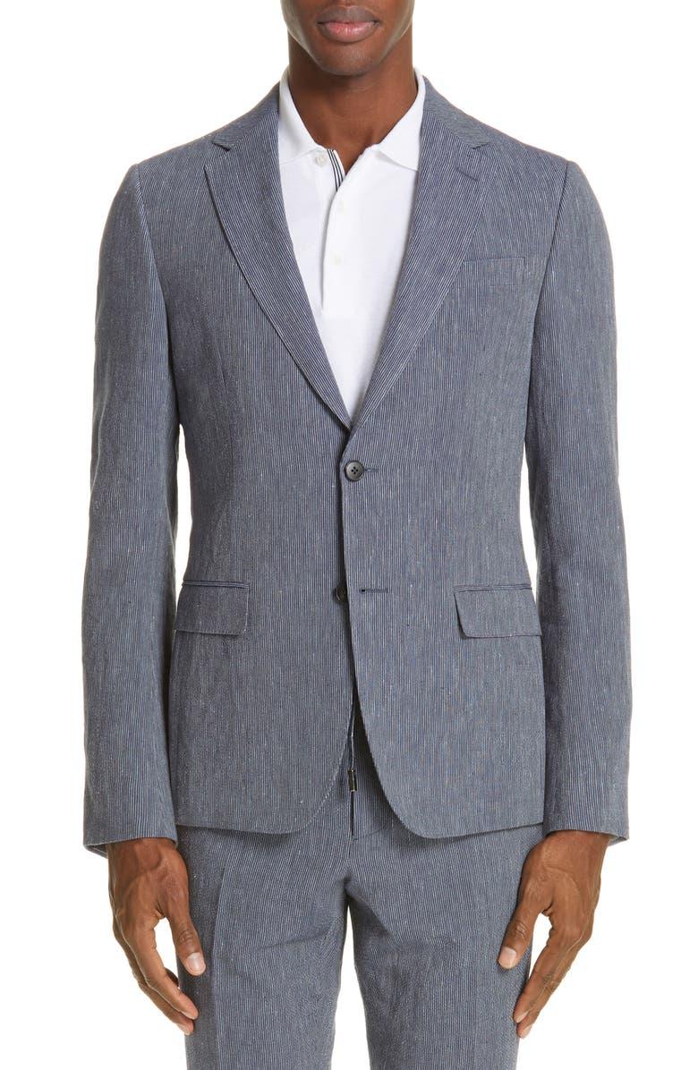 Z ZEGNA D8 Seersucker Suit, Main, color, 412
