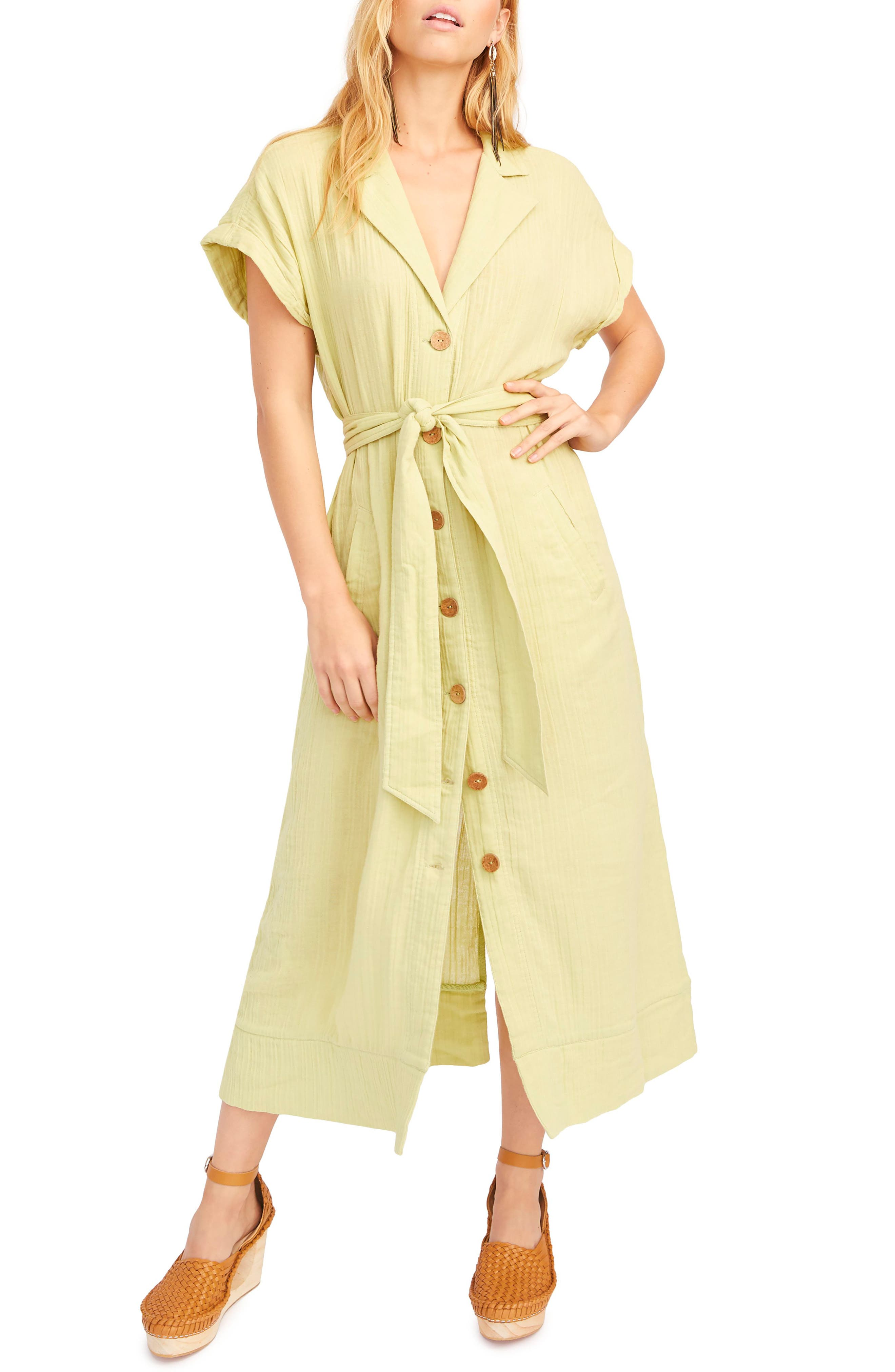 Endless Summer By Free People Soaking Up Summer Maxi Dress, Green