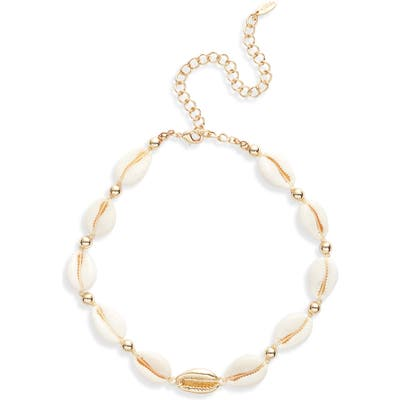 Ettika Shell Collar Necklace