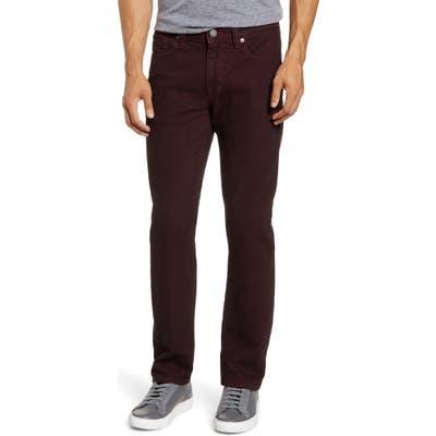 Fidelity Denim Jimmy Slim Straight Leg Jeans, Red