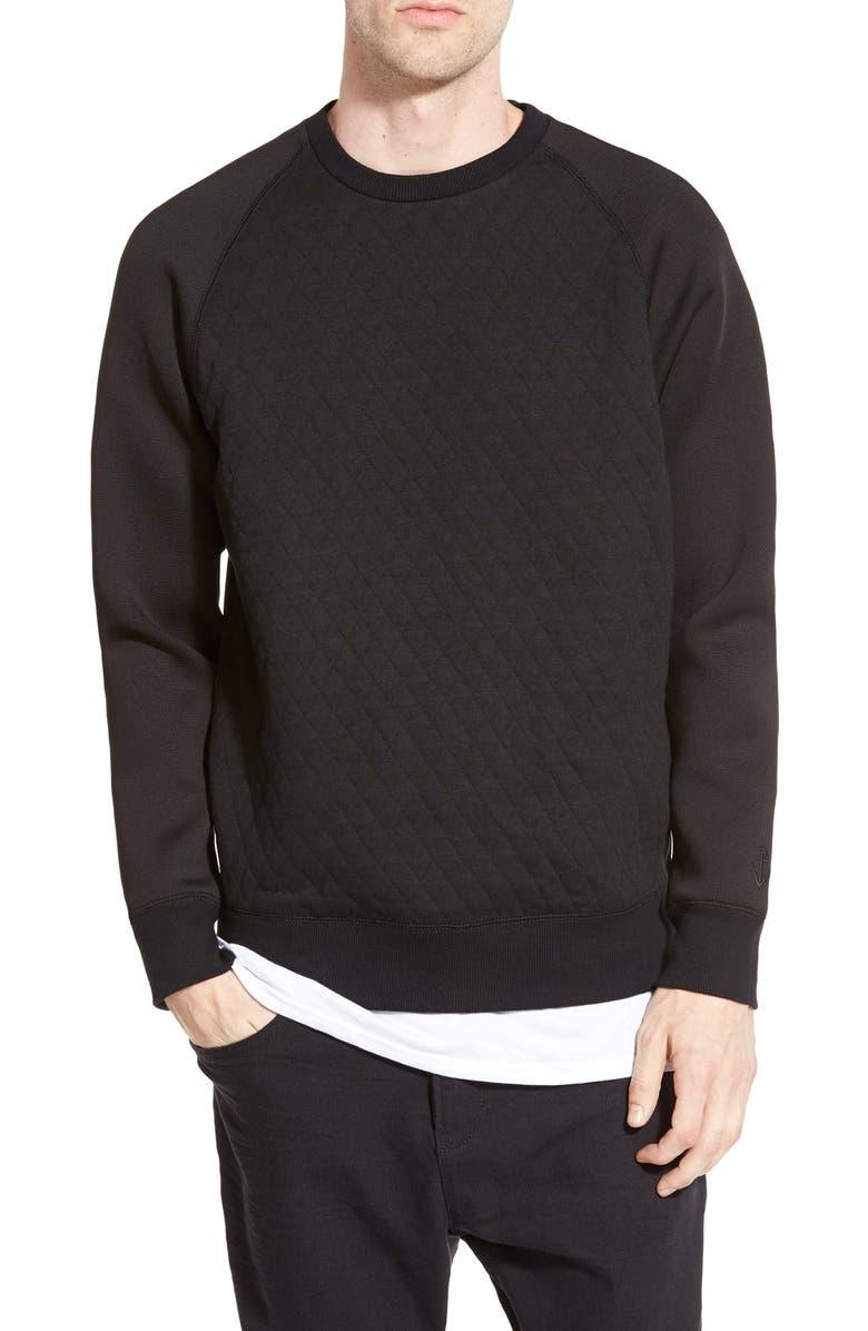 HOWE 'Street Fighter' Mesh Crewneck Sweatshirt, Main, color, 003