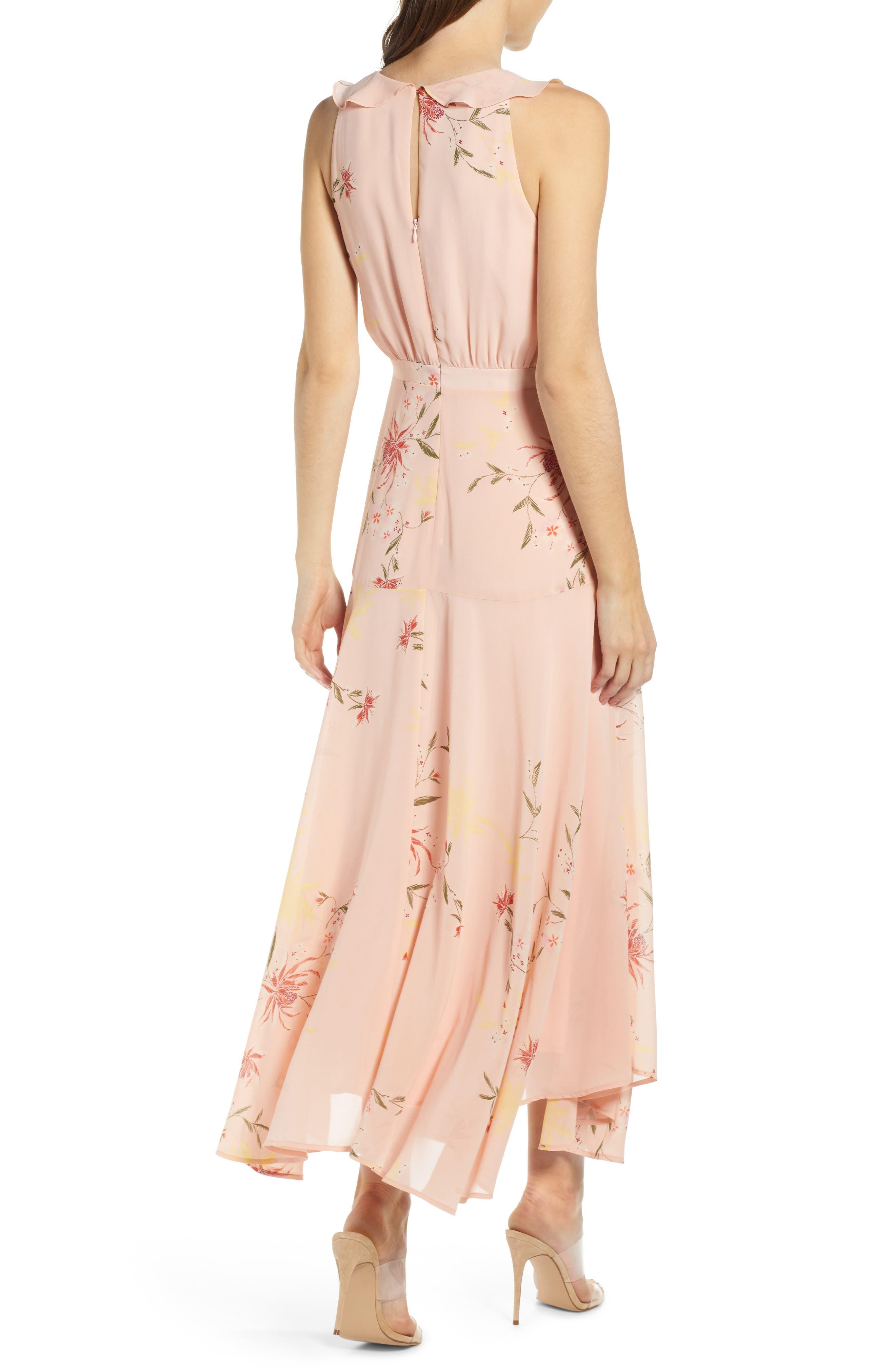 ,                             Ruffle Detail High/Low Sleeveless Maxi Dress,                             Alternate thumbnail 2, color,                             950