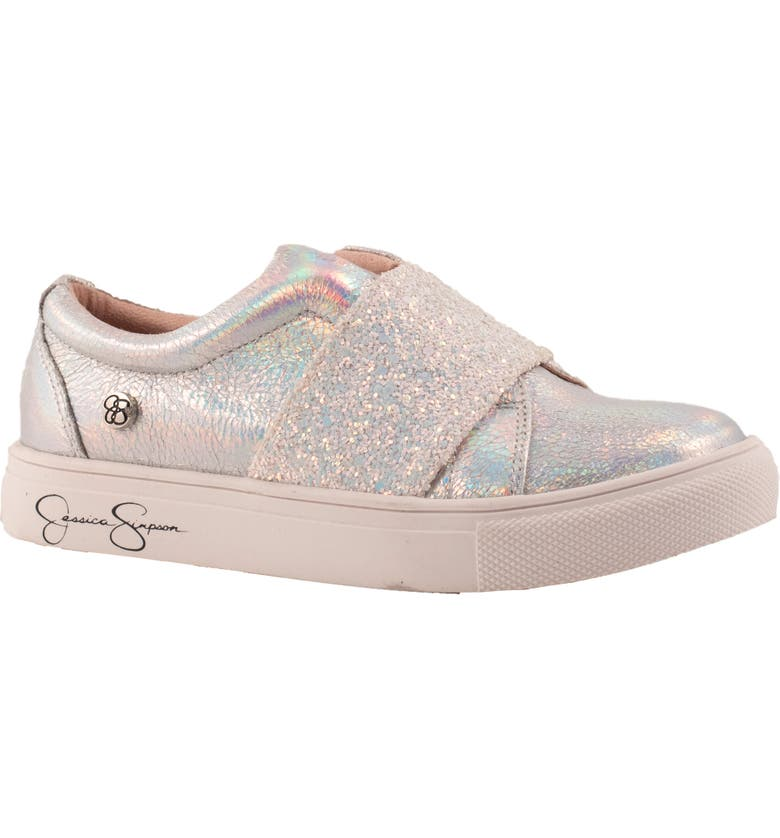JESSICA SIMPSON Soni Sparkle Slip-On Sneaker, Main, color, SILVER