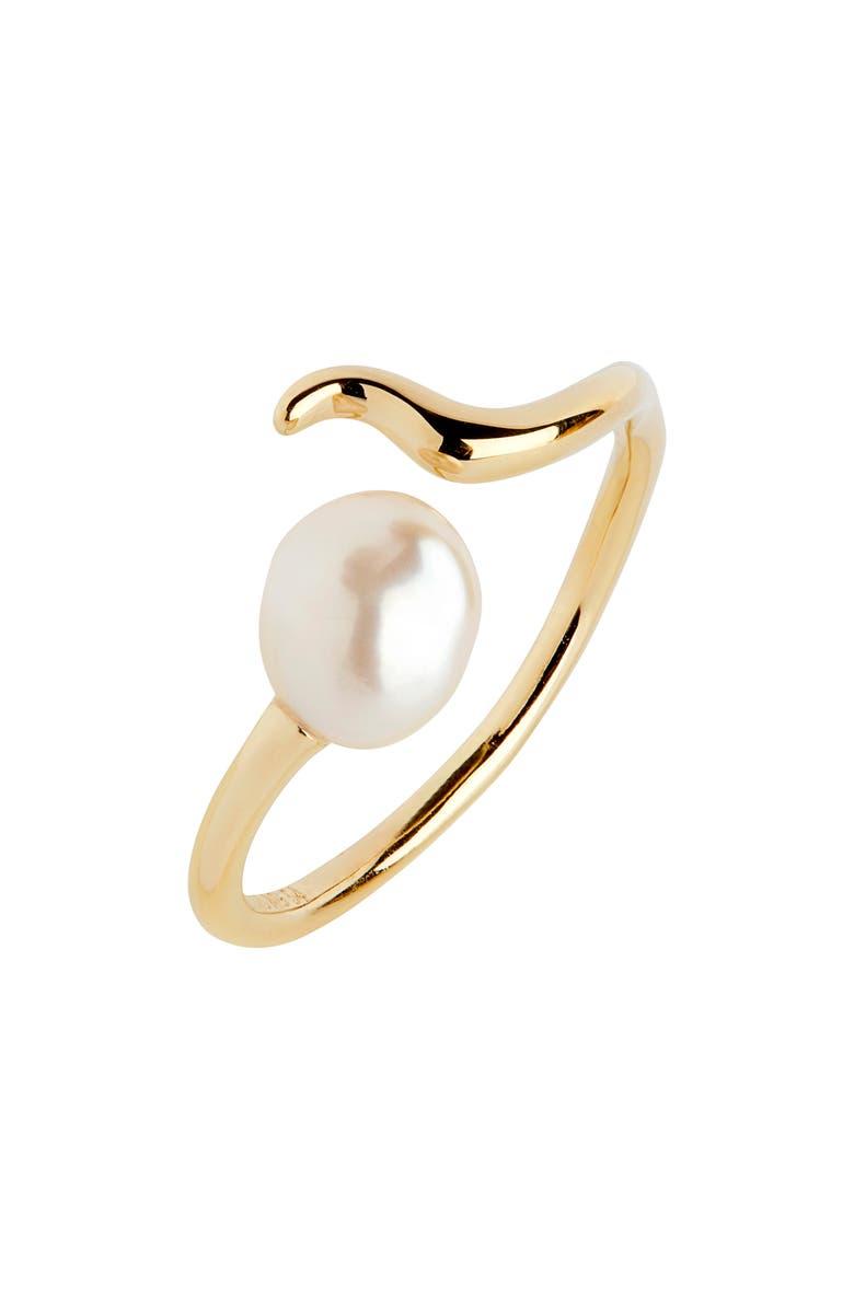 MARIA BLACK Moon Shine Pearl Ring, Main, color, 710