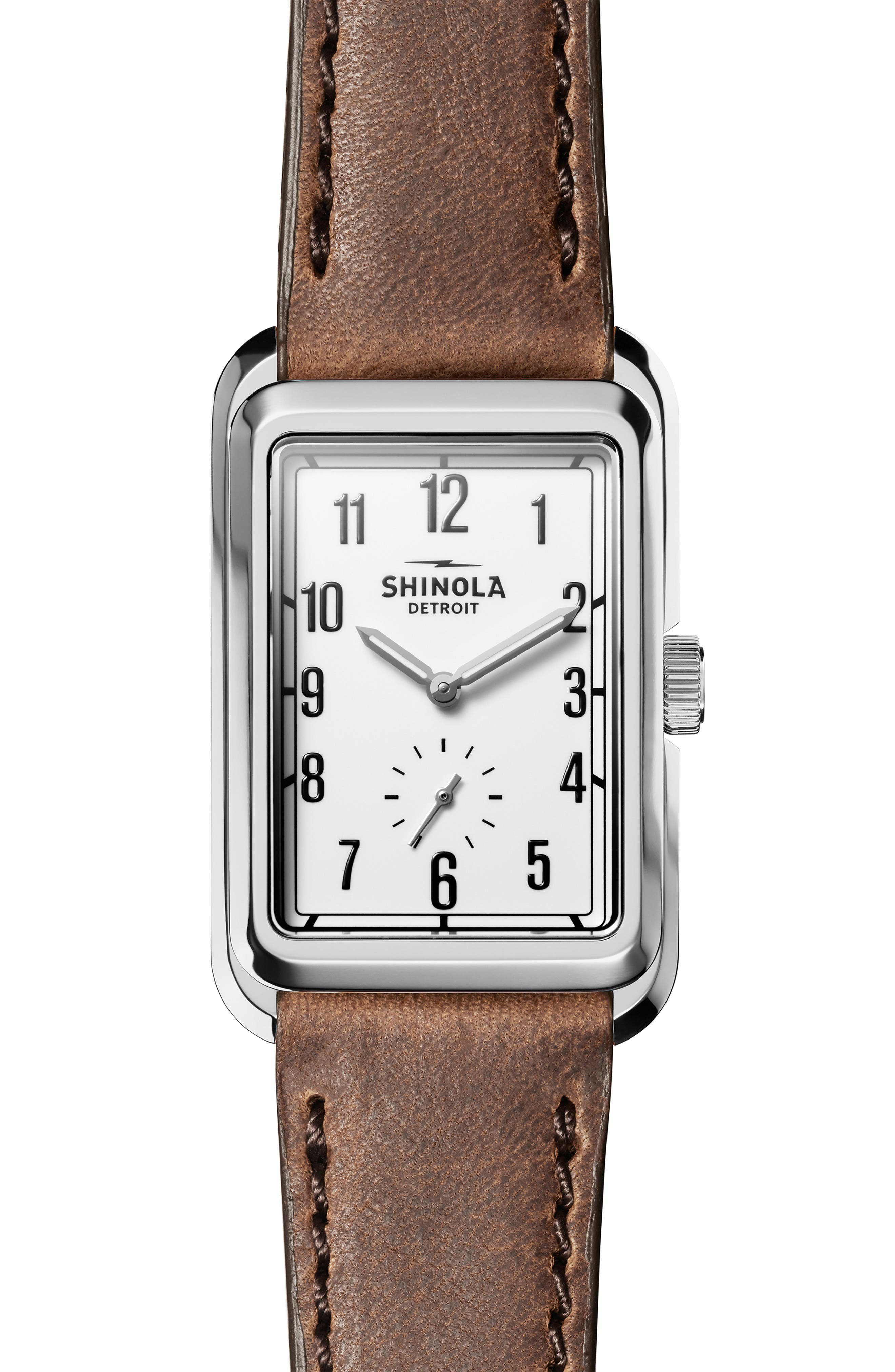 Image of Shinola Men's Omaha Leather Strap Watch, 26mm x 36.5mm
