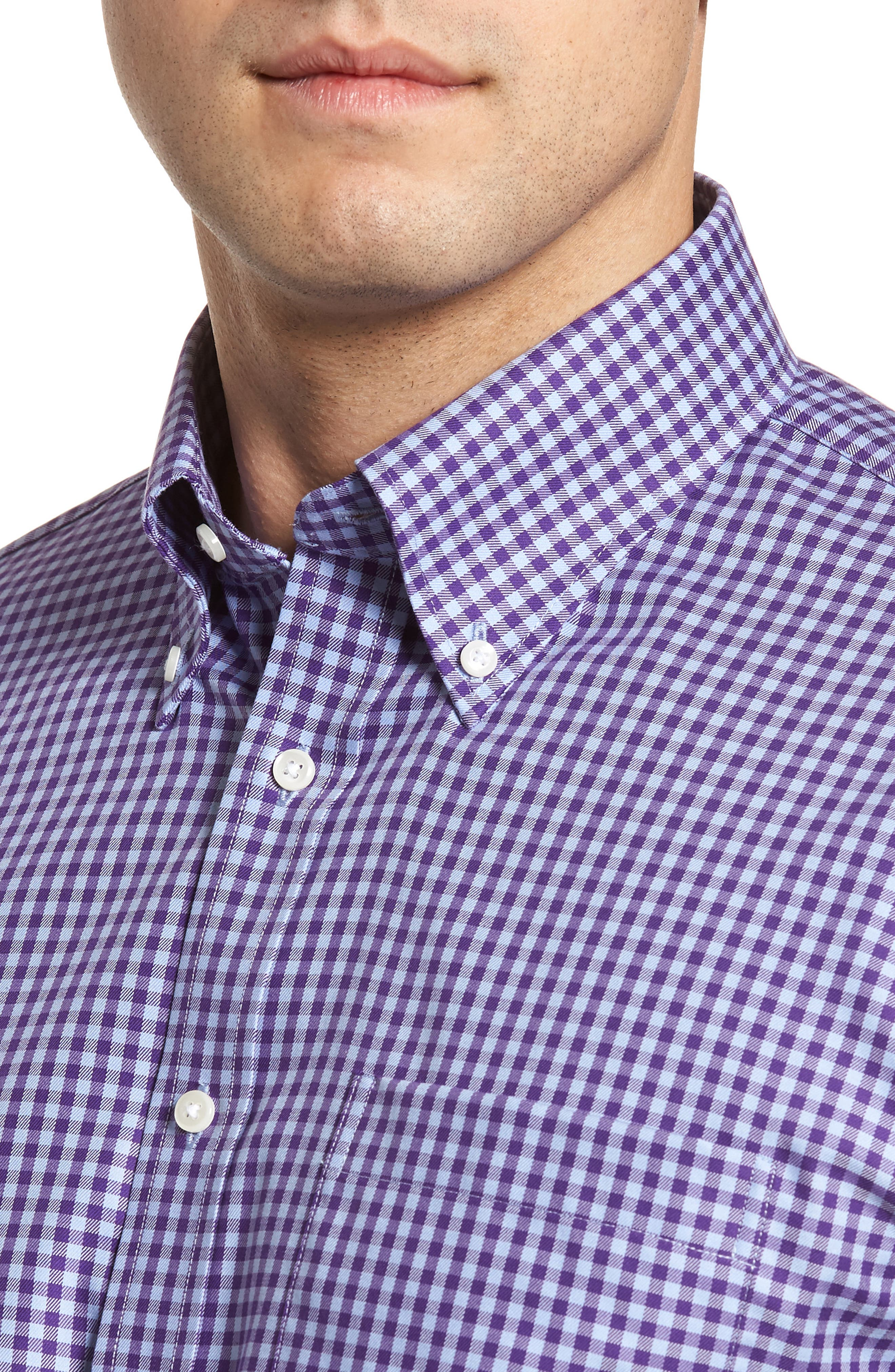 ,                             Traditional Fit Non-Iron Gingham Dress Shirt,                             Alternate thumbnail 65, color,                             520