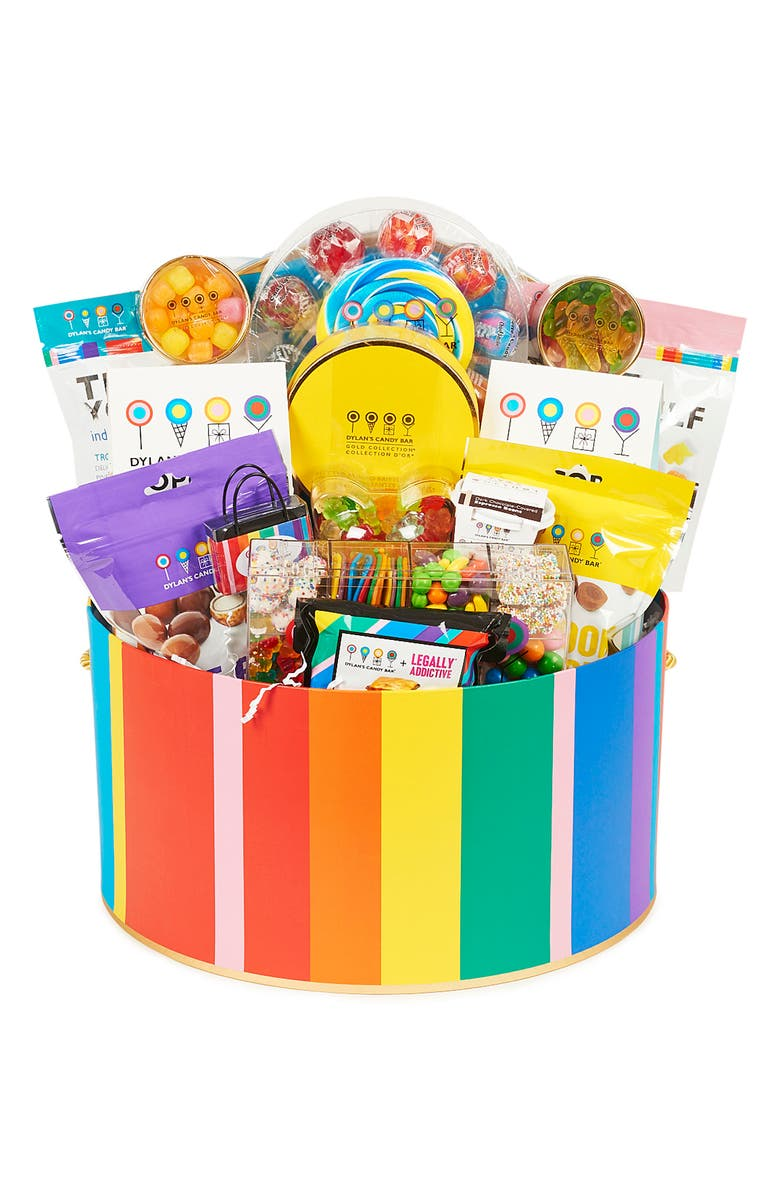 DYLAN'S CANDY BAR Oversized Deluxe Hat Box Gift Basket, Main, color, MULTI
