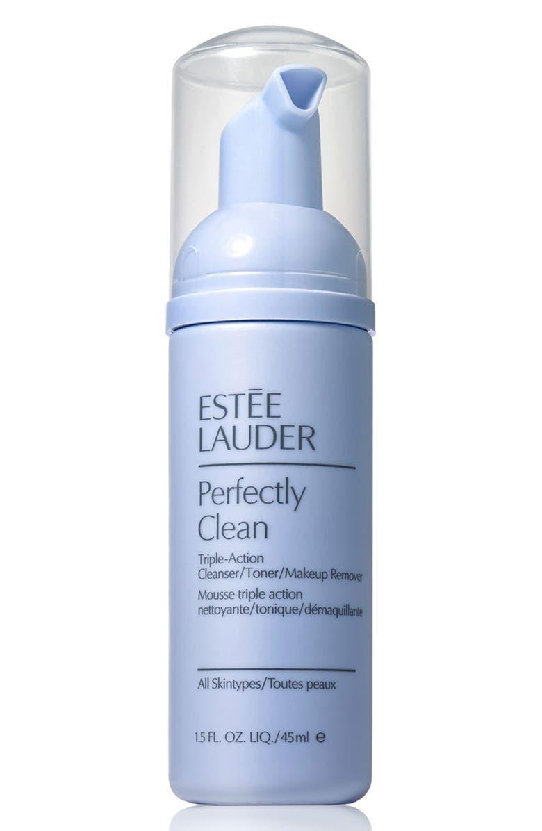 ESTÉE LAUDER Perfectly Clean Triple-Action Cleanser/Toner/Makeup Remover, Main, color, NO COLOR