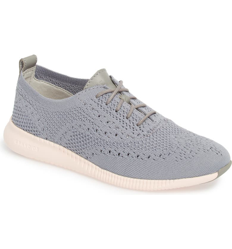 COLE HAAN 2.ZERØGRAND Stitchlite Wingtip Sneaker, Main, color, IRONSTONE KNIT FABRIC