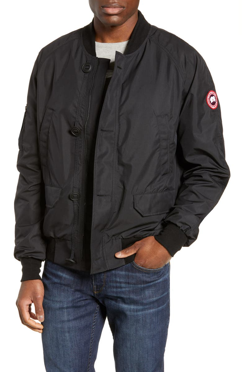CANADA GOOSE Faber Windblocker Bomber Jacket, Main, color, BLACK