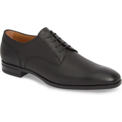 Boss Portland Embossed Plain Toe Derby, Black
