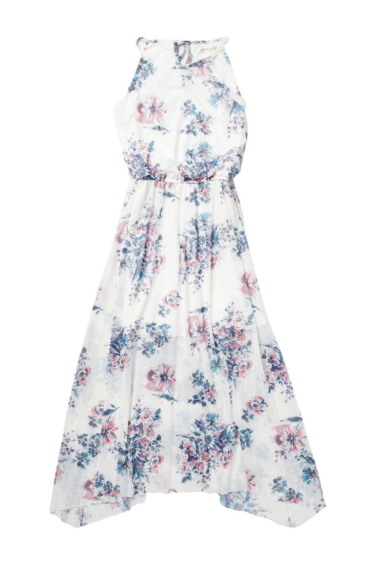 Image of AVA AND YELLY High Neck Floral Print Dress