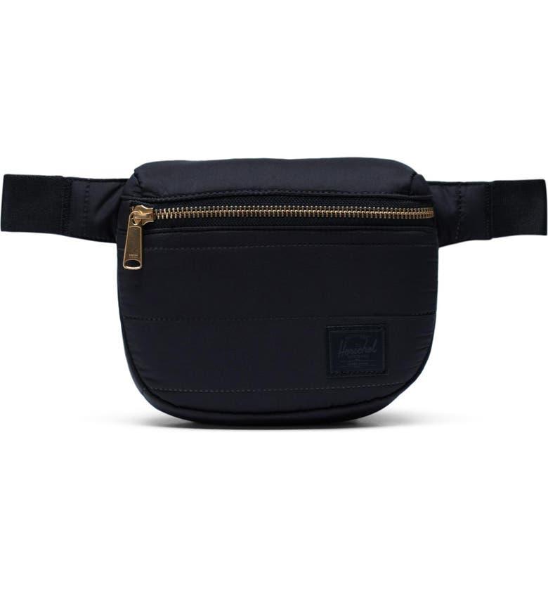 HERSCHEL SUPPLY CO. Quilted Fifteen Belt Bag, Main, color, BLACK