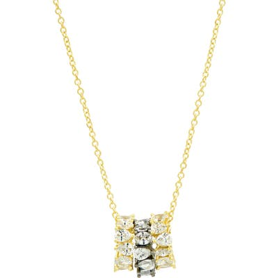 Freida Rothman Double Helix Tri-Ringual Necklace