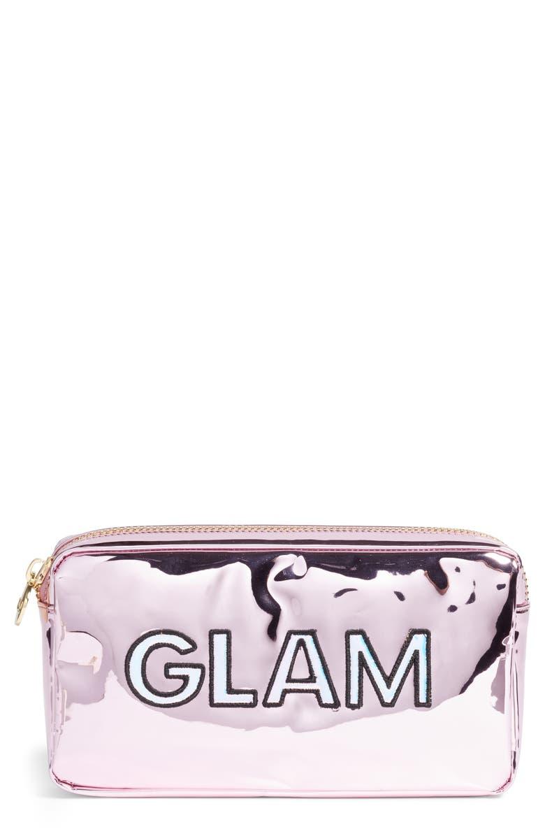 STONEY CLOVER LANE Glam Small Patent Makeup Bag, Main, color, 650