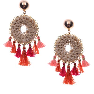 Nakamol Design Woven Fringe Earrings