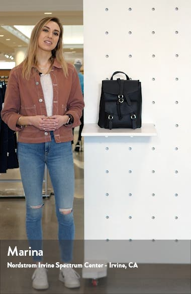 Brit Faux Leather Backpack, sales video thumbnail