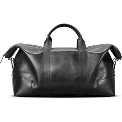 Shinola Signature Leather Duffle Bag -